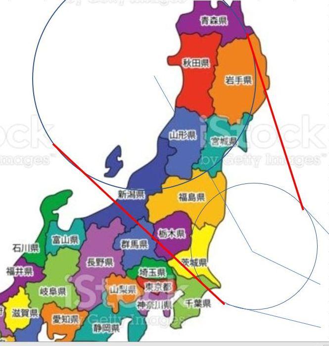2021年の台風8号の上陸地域は東北全域か